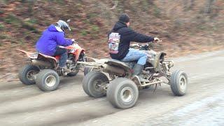 getlinkyoutube.com-ATV Drag Racing: 700 Raptor vs Everything (GoPro)
