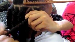 getlinkyoutube.com-Marley Twists Havana Twists Rubberband Method