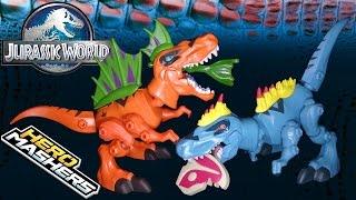 getlinkyoutube.com-Opening: Jurassic World TYRANNOSAURUS REX Hero Mashers (Orange Vs. Blue)