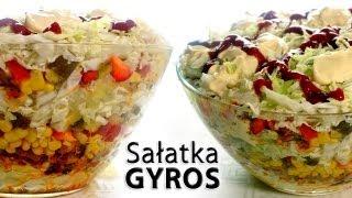 getlinkyoutube.com-Sałatka Gyros | smaczne-przepisy.pl