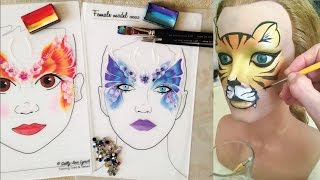 getlinkyoutube.com-Fun face painting practice, without kids! - Face Painting Made Easy PART 7