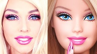 getlinkyoutube.com-Barbie Doll MakeUp Transformation