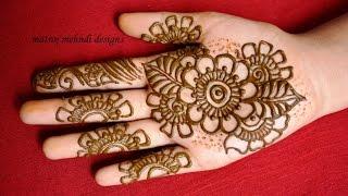 getlinkyoutube.com-easy simple mehndi designs for hands: Matroj Mehndi Designs