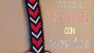 getlinkyoutube.com-》Tutorial pulsera Chevron con bordes │Macrame《