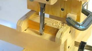 getlinkyoutube.com-Hollow chisel mortiser experiments