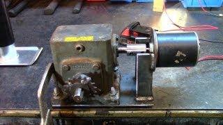 getlinkyoutube.com-Part 1: Electric Utility Hoist/Engine Hoist (Gearbox Build)