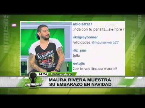 Maura Rivera muestra su embarazo