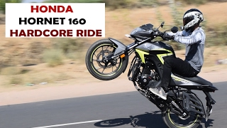 HONDA hornet 160 REVIEW || AFTER hardcore stunts || top speed