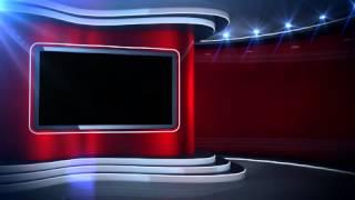 getlinkyoutube.com-Red Background News Set Virtual Set