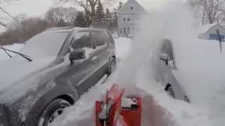 getlinkyoutube.com-Ariens Compact 24 snow blower tackling the Blizzard of 2015, over 2 feet of snow!