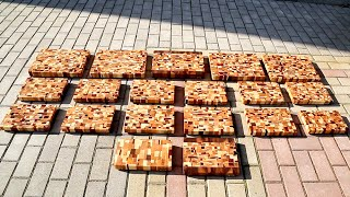 End grain cutting boards from scrap wood