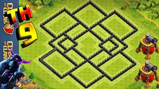 getlinkyoutube.com-CLASH OF CLANS - LAYOUT DE FARM CV9 // BEST TH9 FARMING BASE + [DEFENSE REPLAYS]