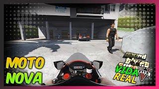 getlinkyoutube.com-GTA V : VIDA REAL 🔴NLINE - COMPREI UMA MOTO ZERA !! MOTOVLOG #39