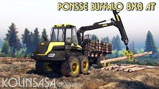 getlinkyoutube.com-Spintires 2014 - PONSSE Buffalo 8x8 AT