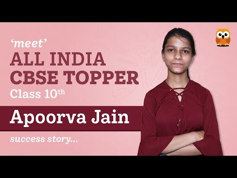 CBSE 10th Topper Apoorva Jain