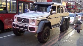 getlinkyoutube.com-Monster Mercedes G63 6X6 AMG Fast Acceleration in the City