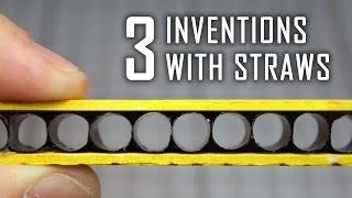 getlinkyoutube.com-3 Incredible Ideas With Drinking Straws | Life Hacks with Straws