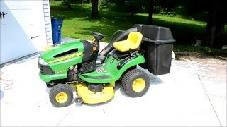 getlinkyoutube.com-How To Remove The Mower Deck on a John Deere Tractor