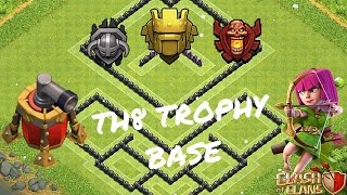 getlinkyoutube.com-Clash of Clans - TH8 Trophy Base for [MASTER,CHAMP