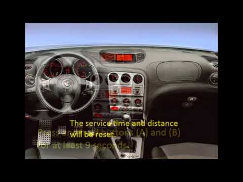 How to reset service light indicator Alfa Romeo