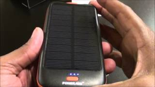 getlinkyoutube.com-Powerad Apollo2 Solar Panel Charger 10000mAh External Battery Power Pack