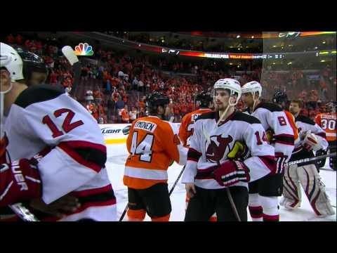 Devils & Flyers Handshake Line 2012 Stanley Cup Playoffs
