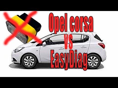 Диагностика Opel corsa с помощью EasyDiag