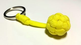 getlinkyoutube.com-Unique and easiest way to make a Globe Knot Key Fob. UNCUT. [ by ParacordKnots]