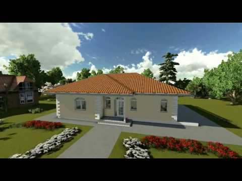 MODEL C-07, Prizemna porodična kuća, P = 127 m2