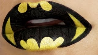 getlinkyoutube.com-Superheroes Lip Art Tutorial: Batman