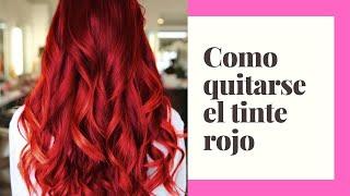 getlinkyoutube.com-Como quitarse el pelo rojo