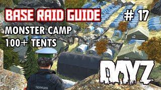 getlinkyoutube.com-Black Lake Monster Camp - 100+ Tents!!! Biggest Camp DayZ SA - Base Raid Guide #17 - Inquisam