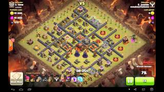 getlinkyoutube.com-Clash of Clans: Beautiful HoLaLoon attack in War