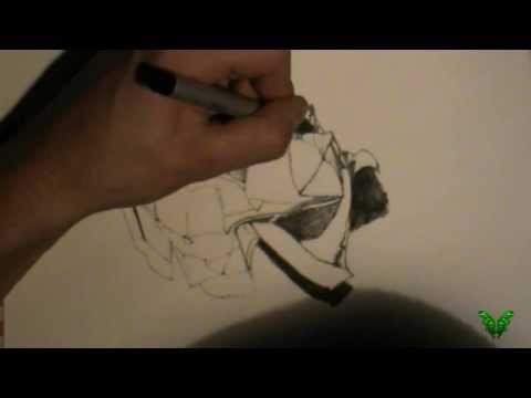 How to Draw a 'Spitball' - Point Technique & Line Toning X Art Infection