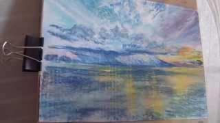 getlinkyoutube.com-Рисуем пастелью. Дождь. Тучи. Облака. Море.
