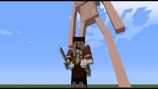 【Minecraft】進撃の巨人MODと、立体起動MODの紹介 / Attack on Titan Minecraft