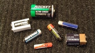 getlinkyoutube.com-How To Test Standard AA, AAA, D, C, and 9V Batteries with a Multimeter