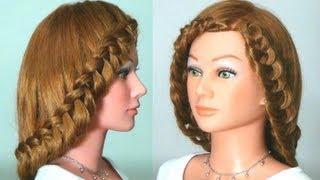 getlinkyoutube.com-Прическа с плетением на длинные волосы. Braided hairstyle tutorial