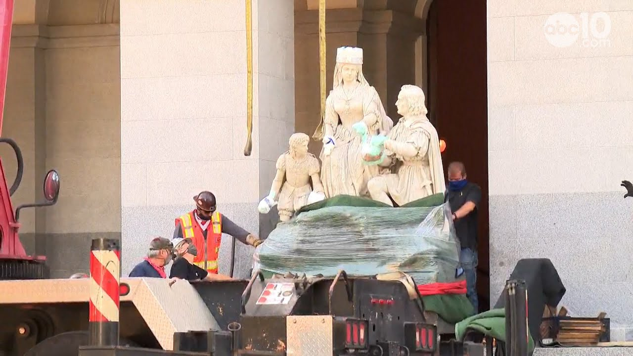 CA's Columbus Statue Removed