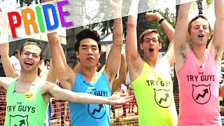The Try Guys March In The Pride Parade