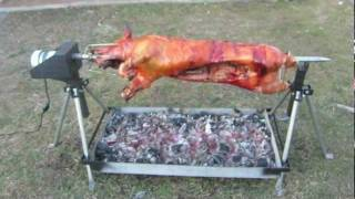 getlinkyoutube.com-Whole Hog Rotisserie Spit by PigOut Roasters