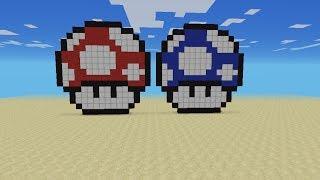 getlinkyoutube.com-Minecraft PE: Como hacer el Hongo de Mario (pixel art)