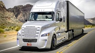 getlinkyoutube.com-Daimler's Self Driving Truck Nevada Worlds First Licensed Autonomous Freightliner Inspiration CARJAM