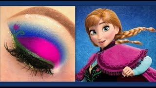getlinkyoutube.com-Disney's Frozen: Princess Anna makeup tutorial