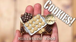 getlinkyoutube.com-Miniature Cookies Tutorial // Fimo Foods, Polymer Clay Sculptures