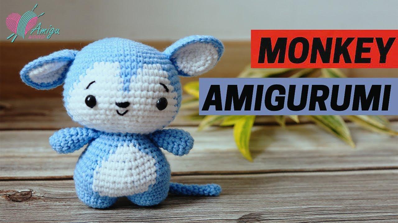 Cách móc con khỉ amigurumi bằng len (P.2)