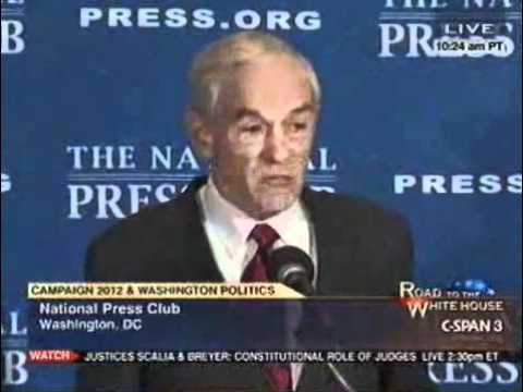 Ron Paul at the National Press Club 10/5/11 (2/4)