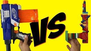 getlinkyoutube.com-NERF Gun vs LEGO Gun