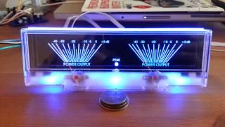 Power Amplifier Dual Analog Panel VU Meter Audio Level dB Meter W/ Blue BackLit