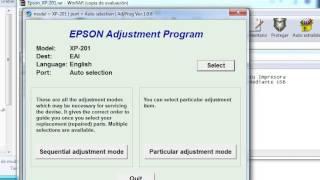 Reset Epson Xp 101, 200, 201, 204, 400, 401